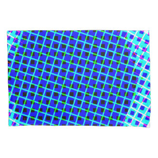 Designer Bright Lines And Squares Pillow Case Set