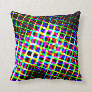 Designer Bright Lines And Squares Pillow Cushion