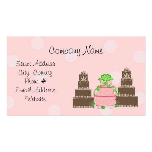 Designer Cakes Business Card Templates