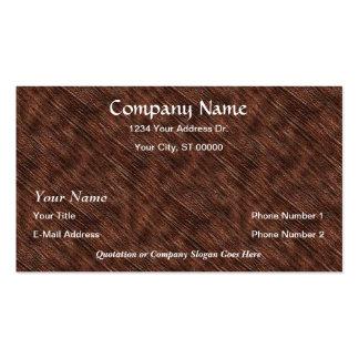 Designer Closeup Wood Grain Business Cards