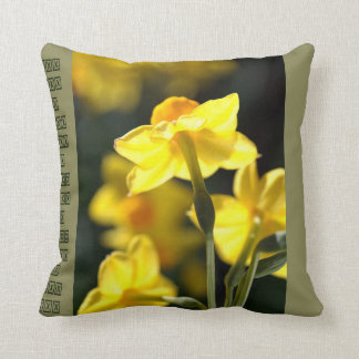 Designer Daffodils Pillow Throw Cushions