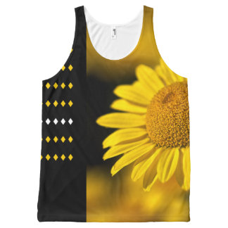 Designer Diamonds And Daisy by Bubbleblue All-Over Print Tank Top