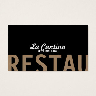 Designer Double-Sided Restaurant Business Card