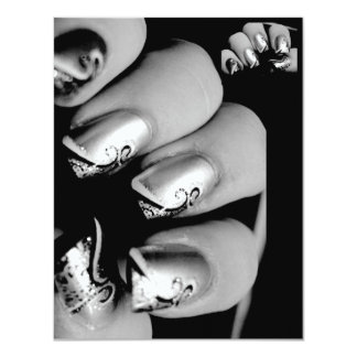 Designer Fingernails 11 Cm X 14 Cm Invitation Card