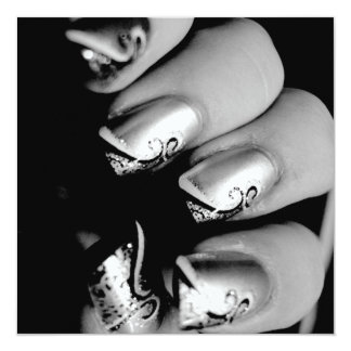 Designer Fingernails 13 Cm X 13 Cm Square Invitation Card