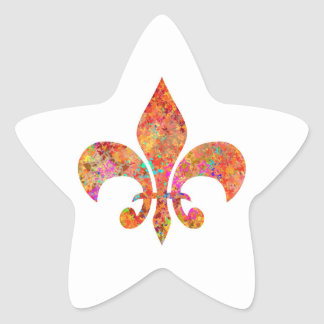 Designer Fleur-de-Lis Star Stickers