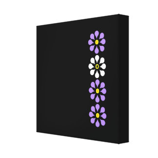 Designer Flower Three Plus One Gallery Wrapped Canvas