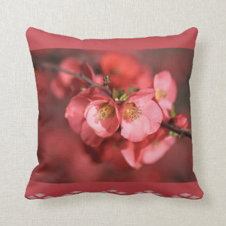 Designer Flowering Quince Pillow Throw Cushions