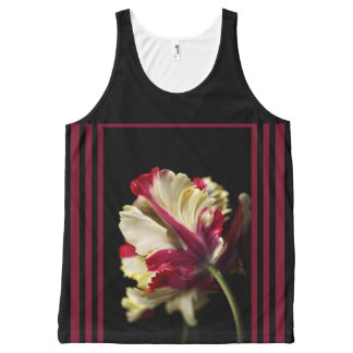 Designer Framed Parrot Tulip by Bubbleblue All-Over Print Tank Top