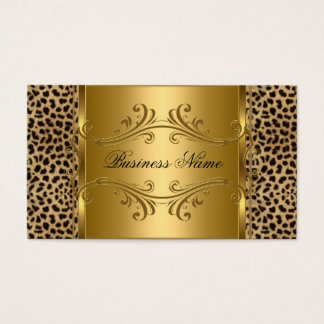 DEsigner Gold Black Leopard Animal