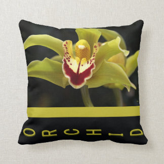Designer Green Orchid Pillow Throw Cushions