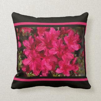 Designer Hot Pink Spring Azaleas Pillow