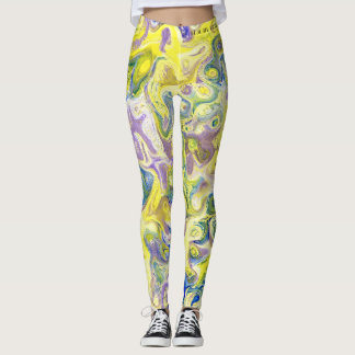DESIGNER LABEL MARBLED  LADIES LEGGING