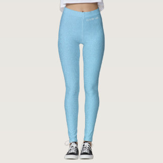 DESIGNER LABEL POWDER BLUE  LADIES LEGGING