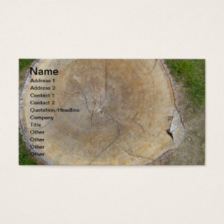 Designer Landscaping Stump Removal Business Cards
