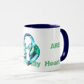 *Designer Lock & Heart Black 11 oz Combo Mug* Mug