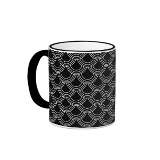 Designer Mug Elegant Black Scales