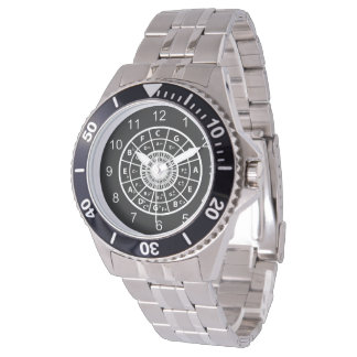 Designer music circle of fifths watches