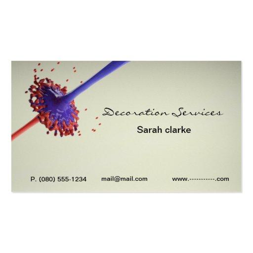 Designer or Decorator business card