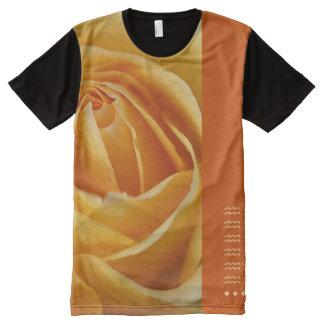 Designer Orange Curves by Bubbleblue All-Over Print T-Shirt