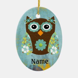 Designer Owl Alice Christmas Tree Ornaments