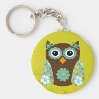 Designer Owl Alice Key Ring
