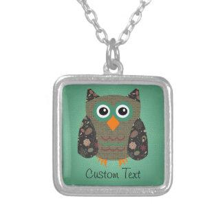 Designer Owl Dusty Custom Necklace