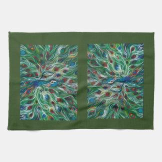 Designer Peacock Feathers Kitchen Towel