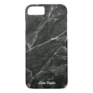 Designer Personalised Black Marble iPhone 7 Case
