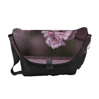 Designer Pink Blossom and Mauve Medium Bag Commuter Bag