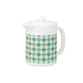 Designer plaid pattern green and beige