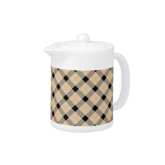 Designer plaid /tartan pattern beige and Black