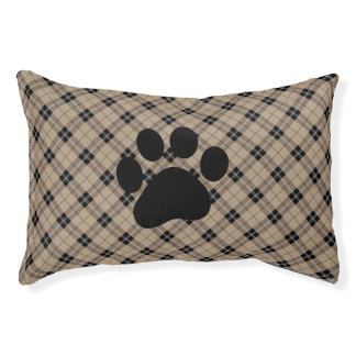 Designer plaid /tartan pattern brown and Black