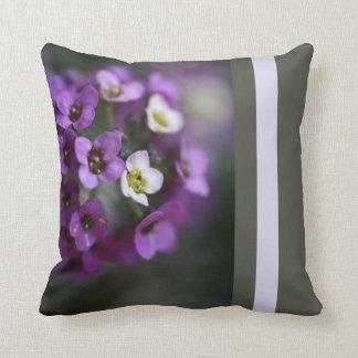Designer Purple Allysium Flowers Pillow