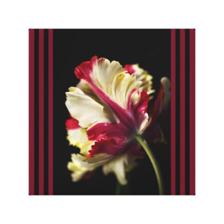 Designer Red And Green Parrot Tulip Wall Art