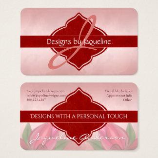 Designer Red Blooms Monogram