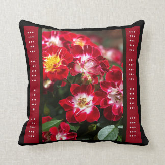 Designer Red Carpet Roses Pillow by bubbleblue Cushion
