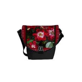 Designer Red Roses Messenger Bag by bubbleblue