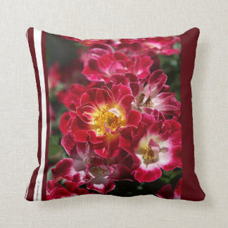 Designer Red Roses Pillow Throw Cushion