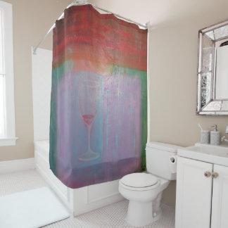 """Designer Shower Curtain """"Wine Glass"""""""