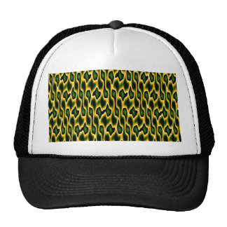 Designer Snakeskin Mesh Hat