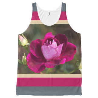 Designer Sports Rose Lush by Bubbleblue All-Over Print Tank Top