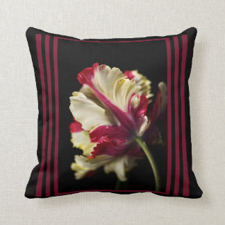 Designer Spring Red And Green Parrot Tulip Pillow