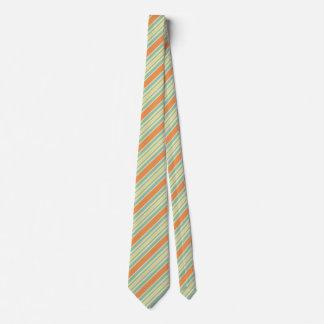 Designer Striped Tie Orange Blue Stripes Colors