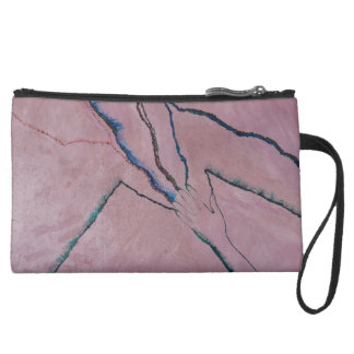 Designer sueded mini clutch
