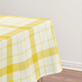 Designer tartan / plaid pattern yellow table cloth