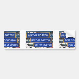 Designer TEXT Best of Boston USA America Bumper Sticker