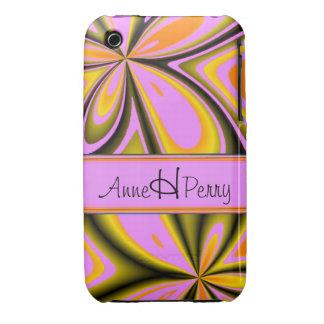 Designer Unique Pink Floral iPhone Case Case-Mate iPhone 3 Cases
