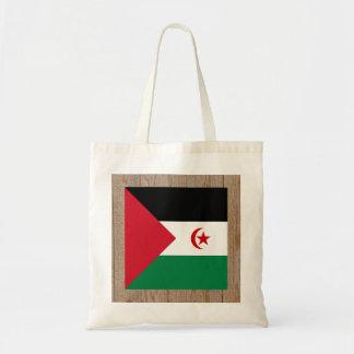 Designer Western Sahara Flag Box Budget Tote Bag
