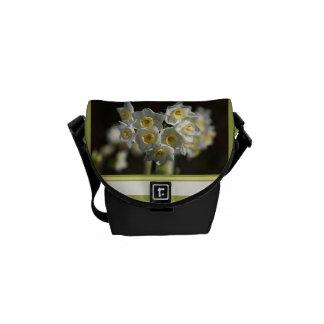 Designer White Jonquils Small Bag Messenger Bag